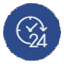 24/7 Support Icon